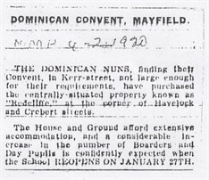 1920 2 4 Dominican Convent Mayfield