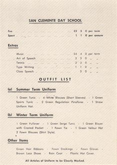 1972 Price And Uniform List
