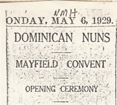 1929 Mayfield Convent Opening Link