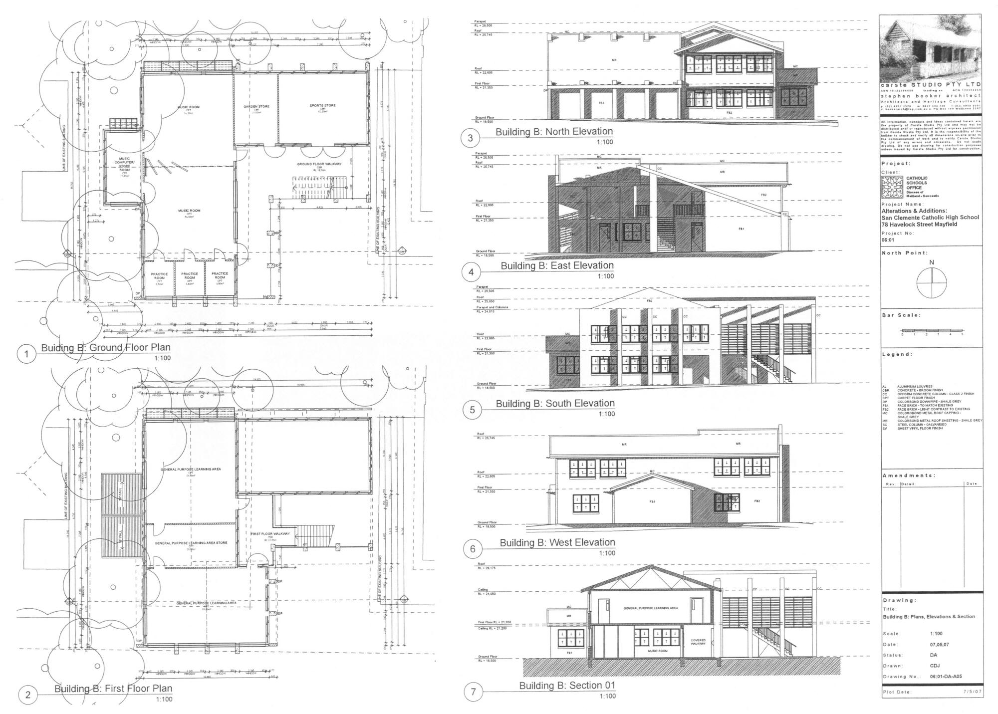 Ground And First Floor Elevation : Planned extension san clemente high school mayfield